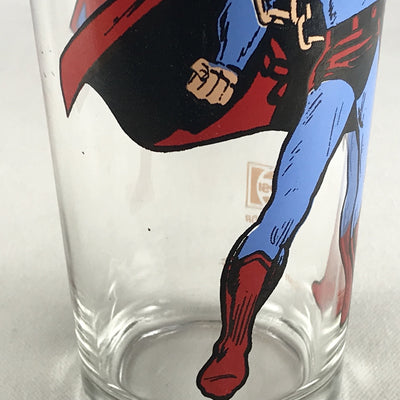 Vintage 1975 Superman Pepsi Collectible Glass