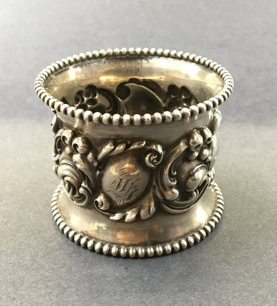 Antique Rococo Style Sterling Napkin Ring
