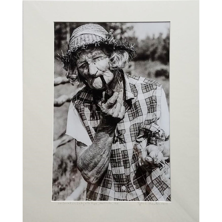 "Tyler Thornton ""Old Canadian Lady with Pipe"" Matineda 1966 - Original Photograph"