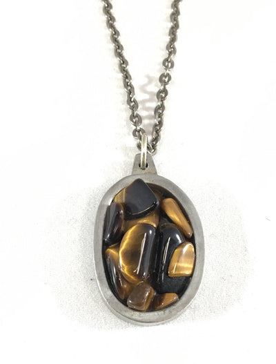 Tiger's Eye Necklace - Jorgen Jensen Denmark
