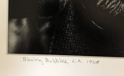 "Tyler Thornton ""Blowing Bubbles"" L.A. 1968 - Original Photograph"