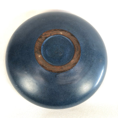 "Arts & Crafts Marblehead 8.5"" Blue Pottery Bowl"