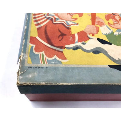 Rare Punch & Judy Tin Toy Puppet Show - Original Box