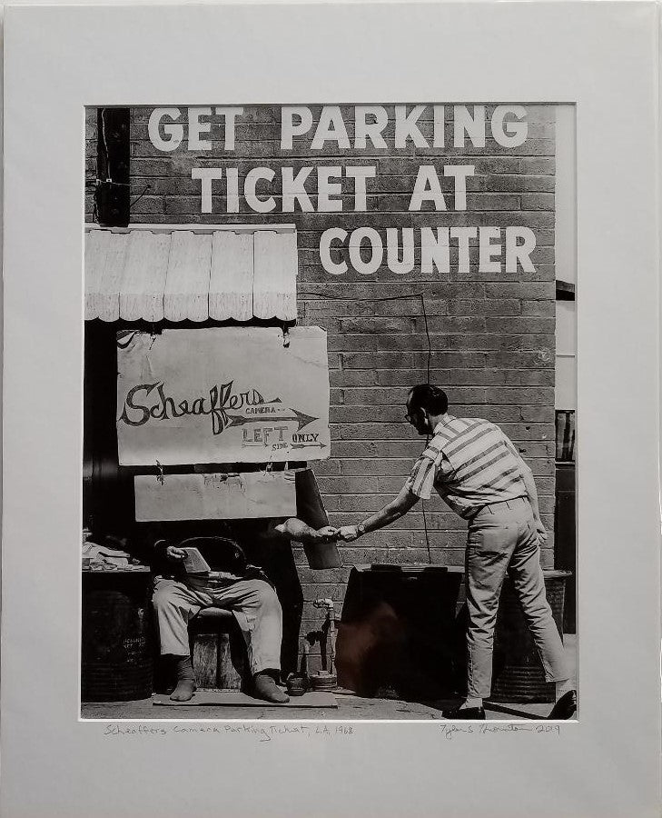 "Tyler Thornton ""Schaefer's Camera Parking Ticket"", L.A. 1962 - Original Photograph"