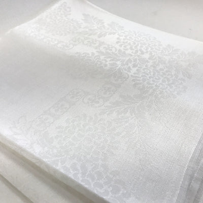 "Vintage 22"" Irish Linen Damask Napkins - Set of 12"