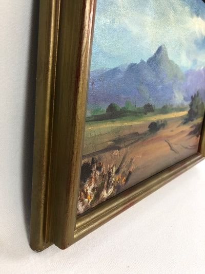 1987 Oil On Board Rural Landscape Signed Cundiff