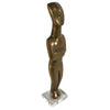 Vintage Cast Bronze Cycladic Man