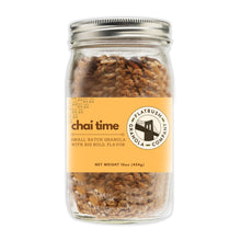 Load image into Gallery viewer, Chai Time: Crunchy Gluten-free Granola Mix with Pistachios, Cashews and Coconut (jar)
