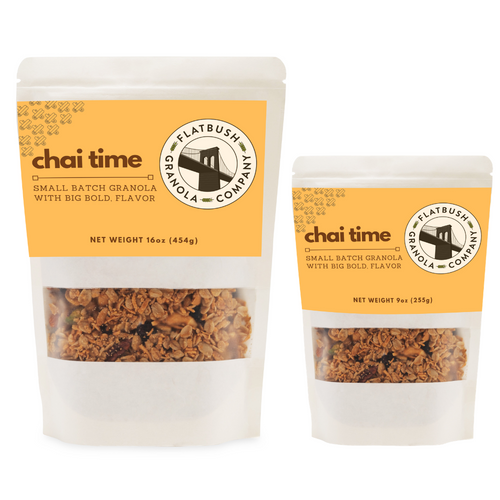 Chai Time: Crunchy Gluten-free Granola Mix with Pistachios, Cashews and Coconut (pouch)