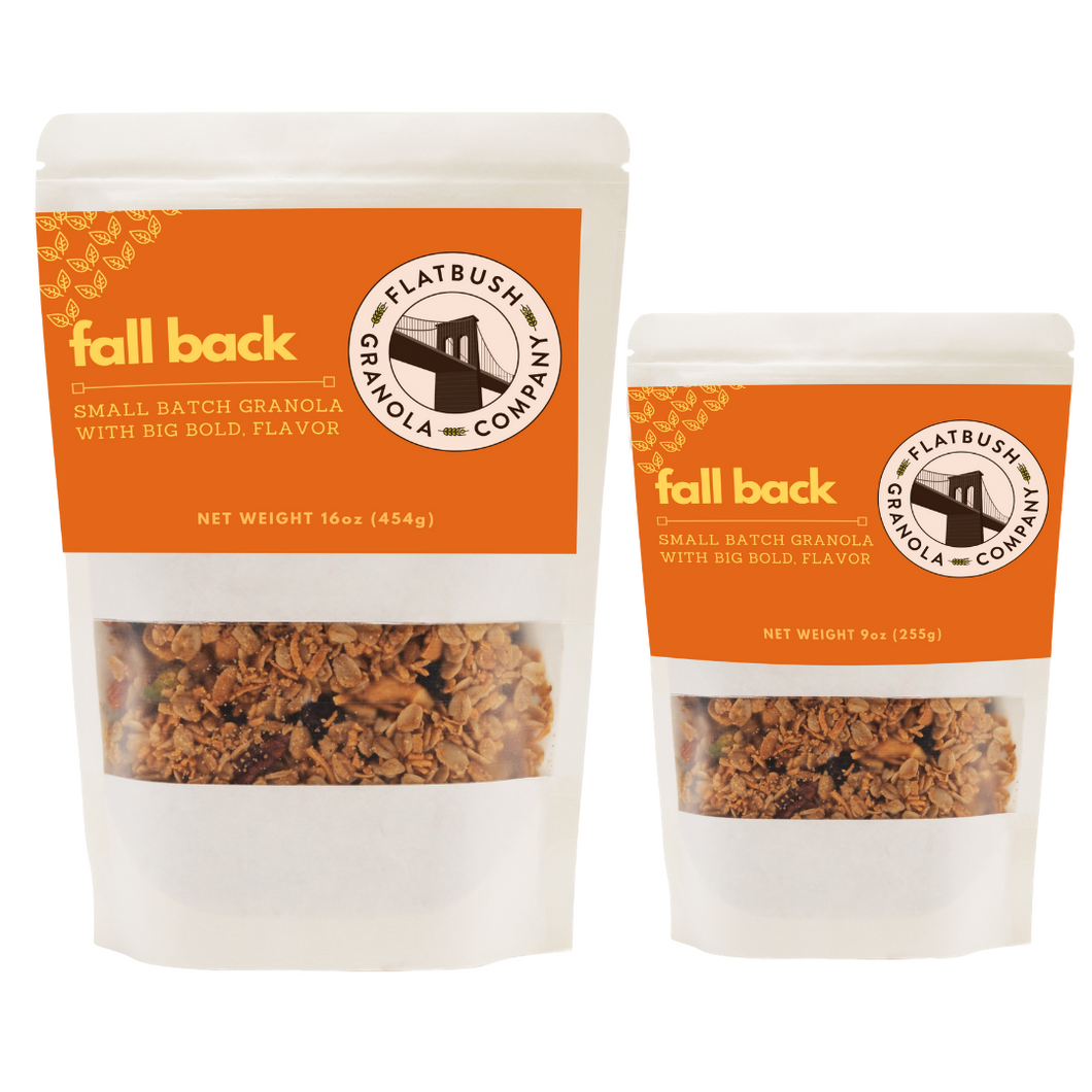 Fall Back: Pumpkin Spice Crunchy Granola Mix with pumpkin seeds, hazelnuts and pecans (pouch)