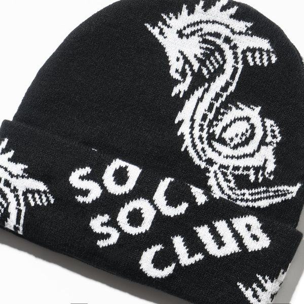 Garden Grove Black Knit Cap