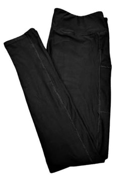 Full Length Solid Leggings With Pockets