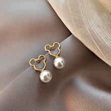 Load image into Gallery viewer, A-1427 Hollow Mickey Pearl Earrings
