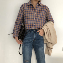 Load image into Gallery viewer, A-1027 Plaid Longsleeves