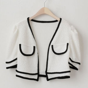A-905 Kner Top Nashi Cardigan Set