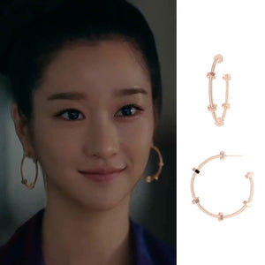 C-1453 Semi Circle Earrings