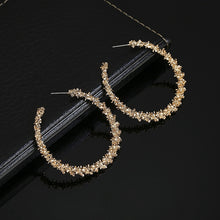 Load image into Gallery viewer, C-1346 Prickly Gold Loop Earrings