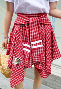A-837 Red Angel Plaid Co-ord
