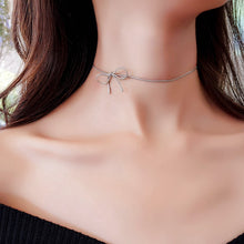 Load image into Gallery viewer, C-1257 Simple Bow Choker Necklace