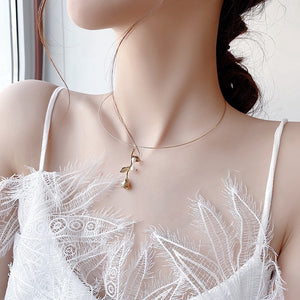C-1454 Pearl Flower Necklace