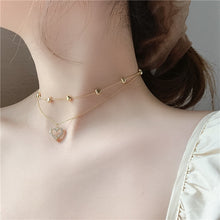 Load image into Gallery viewer, C-1437 Diamond Heart Multilayer Necklace