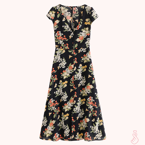 A-997 Backless Floral Midi