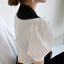 Load image into Gallery viewer, A-907 Ring Collar Cropped Blouse