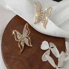 Load image into Gallery viewer, C-1407 Elegant Butterfly Diamond Earrings