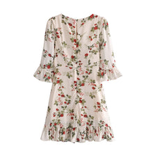 Load image into Gallery viewer, A-1000 Floral Loose Dress