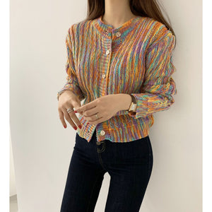 A-971 Rainbow Pullover Sweater