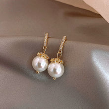 Load image into Gallery viewer, A-1441 Elegant Pearl Drop Earrings