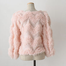 Load image into Gallery viewer, A-1009 Snowflake Pink Cardigan