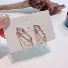Load image into Gallery viewer, C-1315 Pin Chain Earrings