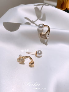 C-1479 Mermaid Tail Pearl Earrings