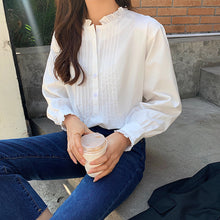 Load image into Gallery viewer, A-1024 Pleated Loose Blouse