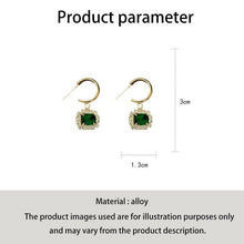 Load image into Gallery viewer, C-1364 Cypress Green Jade Diamond Earrings