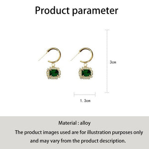 C-1364 Cypress Green Jade Diamond Earrings