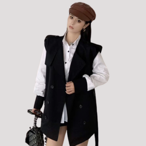A-969 Double Breasted Vest and Blouse