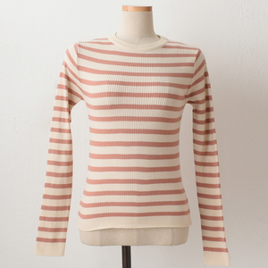 A-1011 Ribbed Striped Top