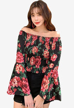 Load image into Gallery viewer, A-854 Smocked Top Bell Sleeves