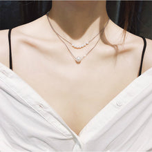 Load image into Gallery viewer, C-1060 Double Pearl Layered Necklace