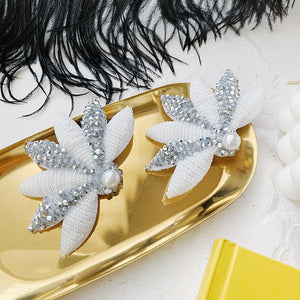 C-1023 Floral Studded Hairclips