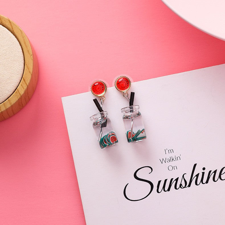 C-1061 Watermelon Strawberry Juice Earrings