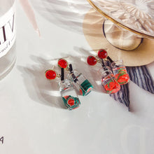 Load image into Gallery viewer, C-1061 Watermelon Strawberry Juice Earrings