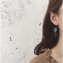 Load image into Gallery viewer, C-1155 Leave Circle Dangling Earrings
