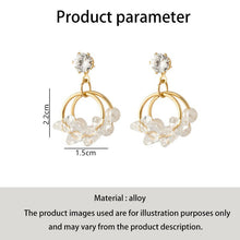 Load image into Gallery viewer, C-1065 Double Layer Ring Bead Pearl Earrings