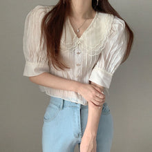 Load image into Gallery viewer, A-911 Layered Doll Collar Loose Blouse