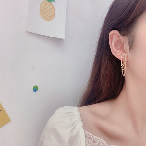 C-1315 Pin Chain Earrings