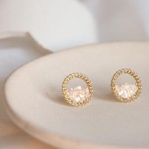 C-1478 Rounded Shell Earrings