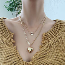 Load image into Gallery viewer, C-1492 M Heart Multilayer Clavicle Necklace